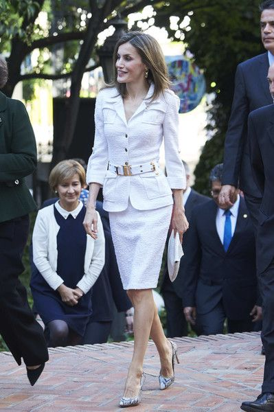 Queen Letizia of Spain attends the seminar 'Una Nueva Cooperacion Iberoamericana' at Casa de America on October 10, 2016 in Madrid, Spain.