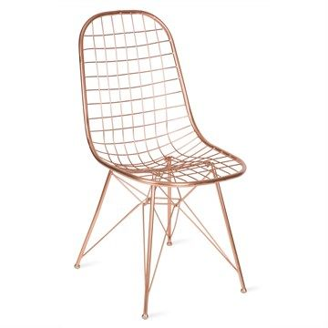 Crofton Metal Wire Side Chair - Copper