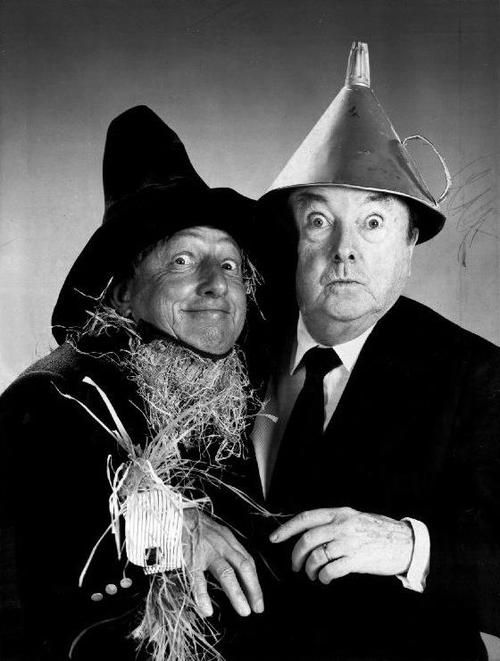 THE WIZARD OF OZ's Ray Bolger (The Scarecrow) and Jack Haley (The Tin Man) reunited in 1970