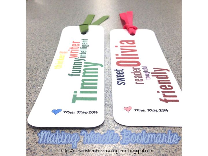 How to Make Wordle Bookmarks - great for end of the year gifts - or as an…