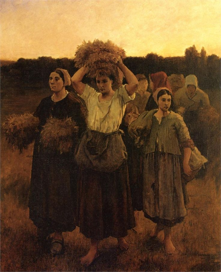 The Recall of the Gleaners (study), 1859 Jules Breton