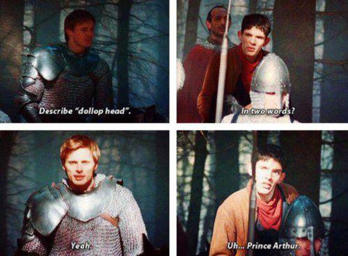 Describe dollop head Merlin :D