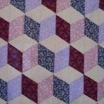 Tumbling blocks quilt pattern/tutorial