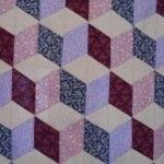 Tumbling blocks quilt easy tutorial from Ludlow quilt and sew