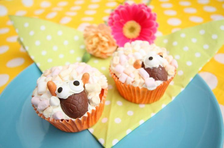 marshmallow schaapjes cupcakes