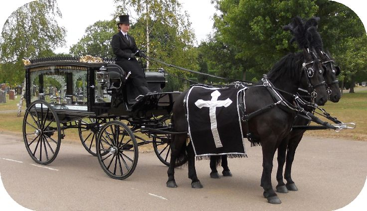 Hearse and pair of Blacks. Available from Thos. Furber & Co. Ltd. Funeral Directors - just contact www.thosfurberandco.ltd.uk