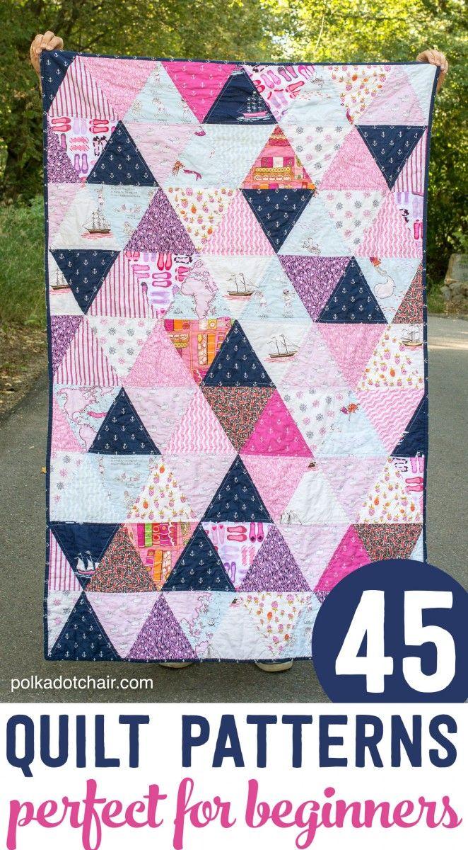 45 easy beginner quilt patterns and free tutorials sew cute rh pinterest com