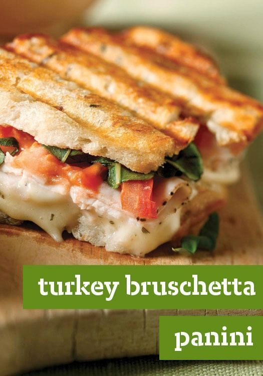 Turkey Bruschetta Panini — Here's everything you enjoy about bruschetta, grilled into a tasty turkey panini recipe. If you start now, you can enjoy it in just 10 minutes!