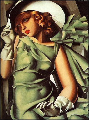 Young Lady with Gloves - by TAMARA DE LEMPICKA