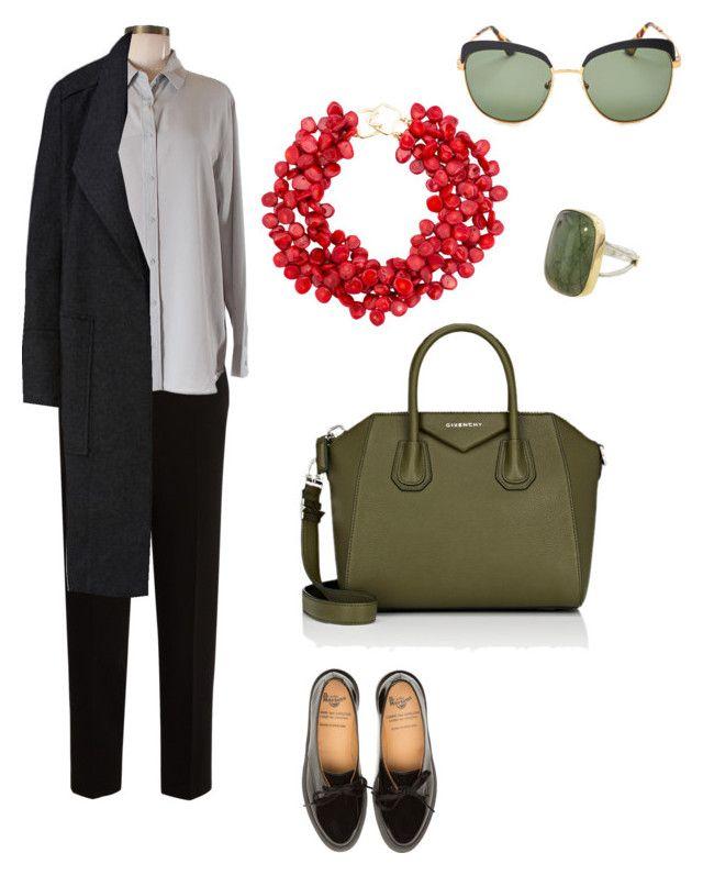 """в офис"" by dilyara-muzafarova on Polyvore featuring мода, The Row, Uniqlo, Prada, Kenneth Jay Lane и Givenchy"