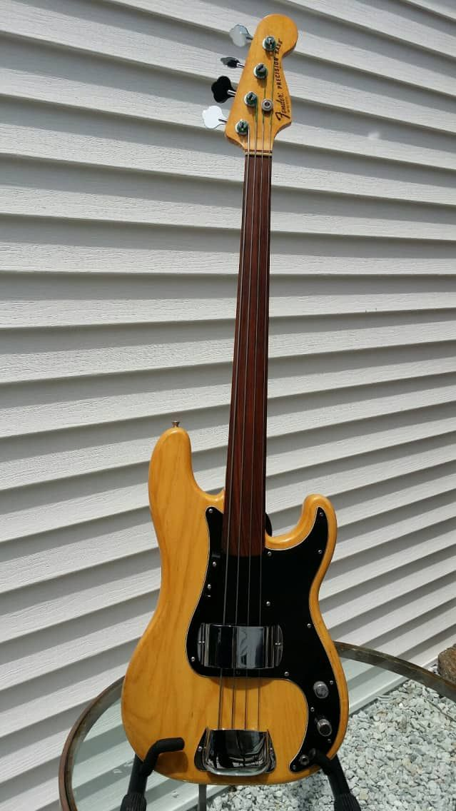 Fender USA Precision Fretless Bass 1978 Natural Ash