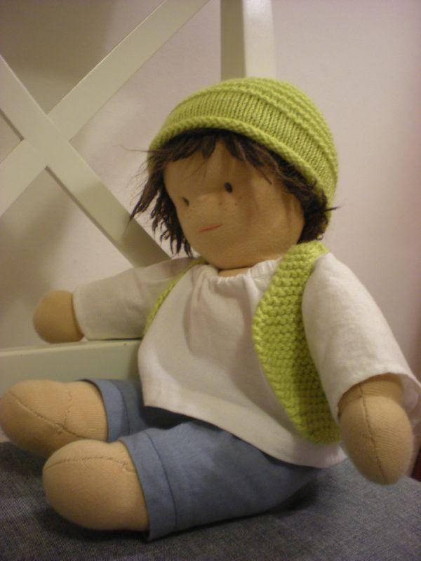 tuto bonnet et gilet de berger pour poupe#Repin By:Pinterest++ for iPad#