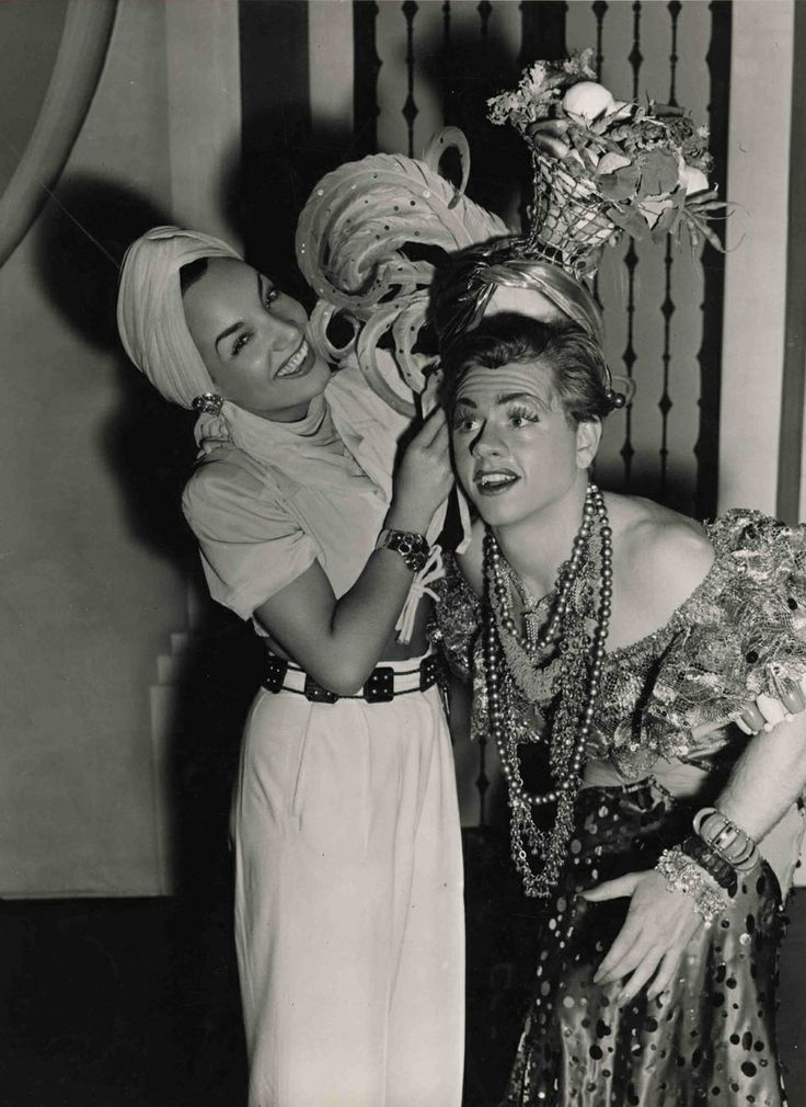 Carmen Miranda & Mickey Rooney on the set of Babes on Broadway.