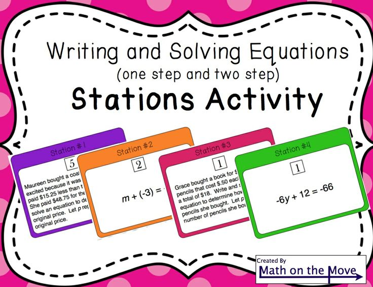 Writing One-Step Equations