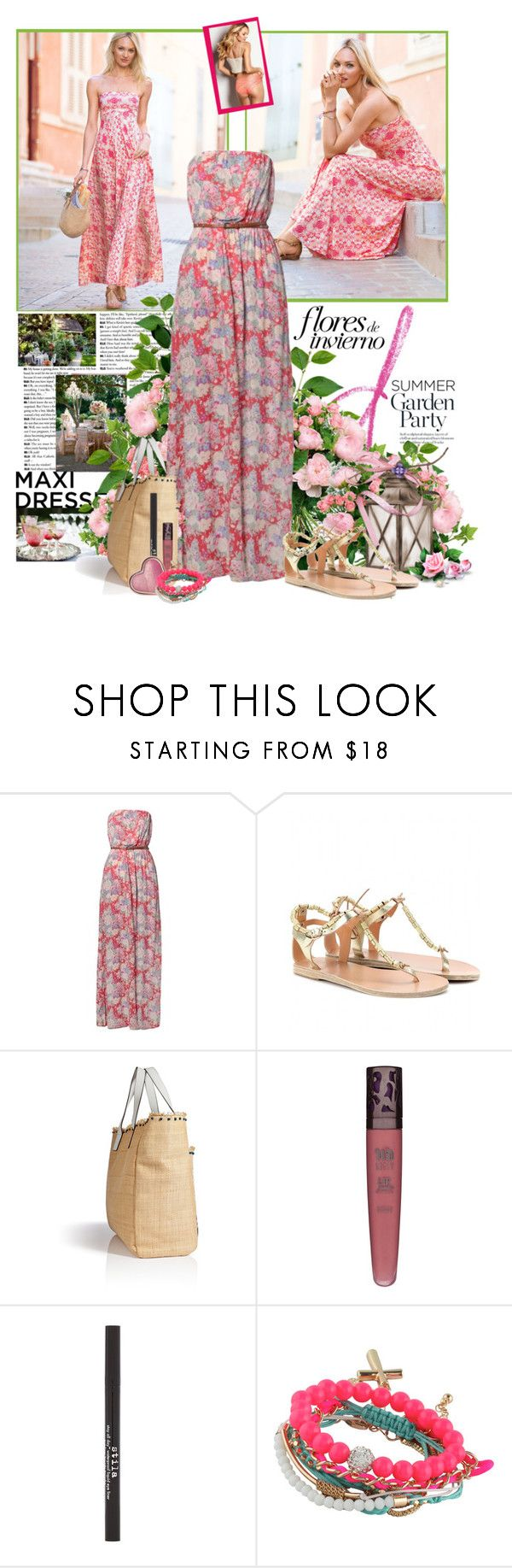 """""""Garden Party"""" by summersunshinesk7 ❤ liked on Polyvore featuring New Look, Ancient Greek Sandals, Anya Hindmarch, Urban Decay, Stila, Too Faced Cosmetics and ALDO"""