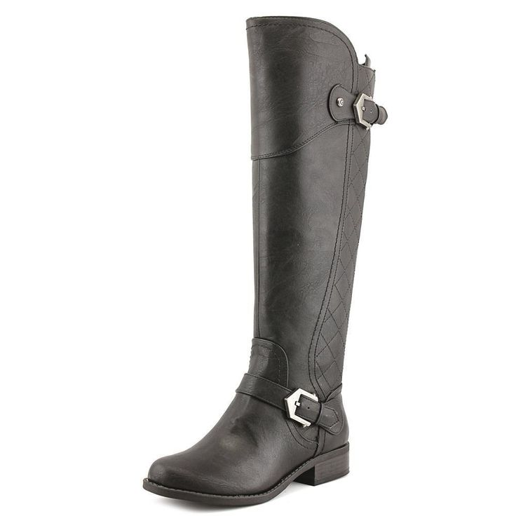 G By Guess Hilli Round Toe Leather Knee High Boot