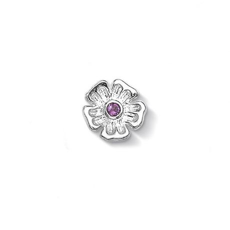 Forget-Me-Not with Amethyst Treasure - Meaning: Memories (CC102-S-AME)