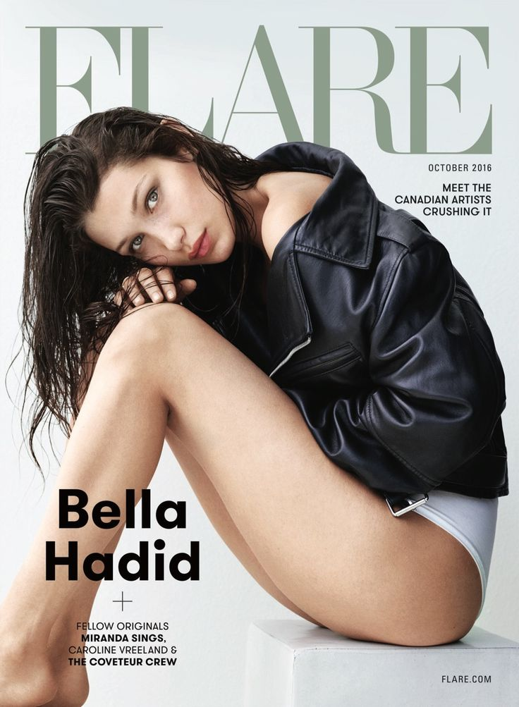 Bella Hadid for FLARE Magazine October 2016 photographed by Nino Muñoz