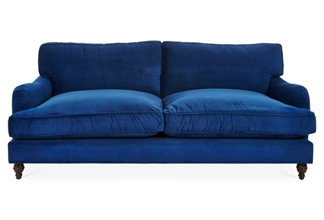 A couch that begs you to tuck your legs up Sherlock Velvet
