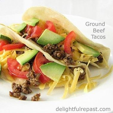 Delightful Repast: Tacos de Carne Molida - made with organic grassfed ground beef