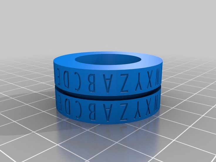 3D Printed Caesar Cipher Decoder Ring by cymon at Thingverse. Link: http://www.thingiverse.com/thing:18315