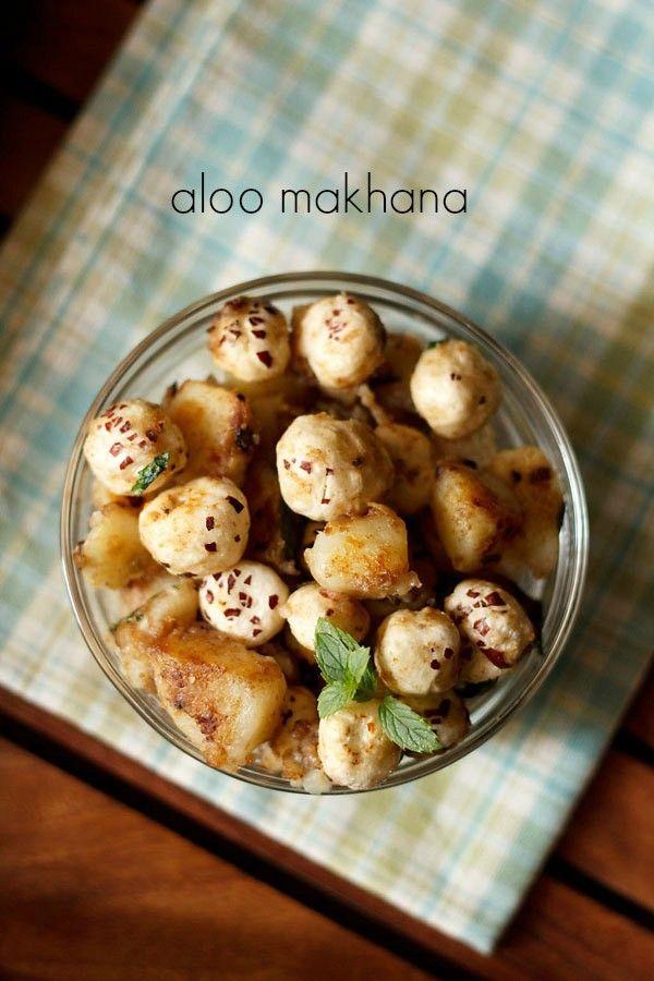 aloo makhana recipe, how to make aloo makhana | navratri vrat