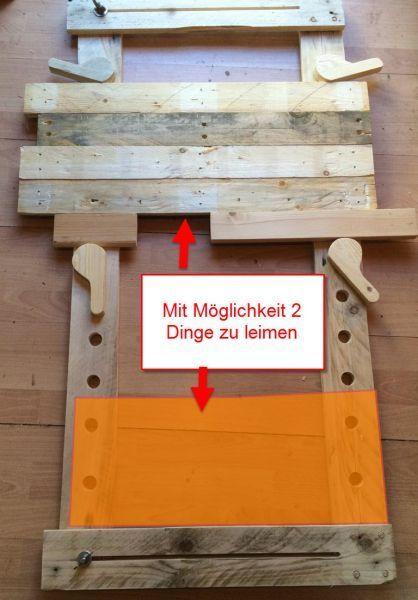 Leimhilfe mit Exzenter Nachbau mit Upgrade von Schorre – Bauanleitung zum Selber … #WoodWorking