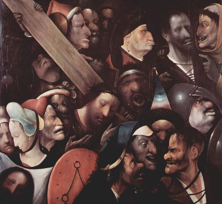 Hieronymus Bosch or follower. Christ Carrying the Cross. circa 1510-1535. oil on panel.