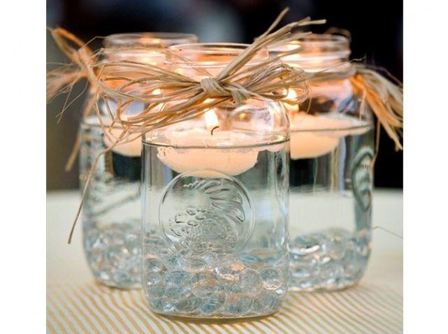 Mariage champetre photophore