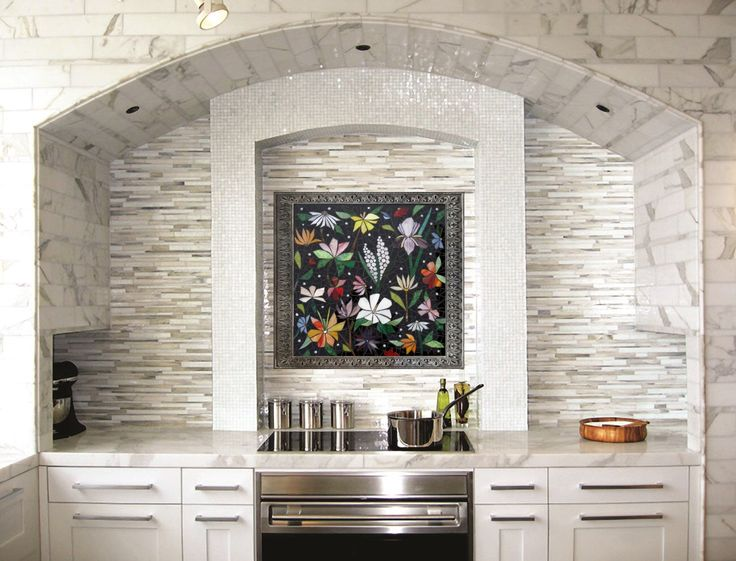 CUSTOM KITCHEN MOSAIC Backsplash Art   Hand Cut Stained Glass   Original  One Of A Kind Designs Made To Order Back Splash