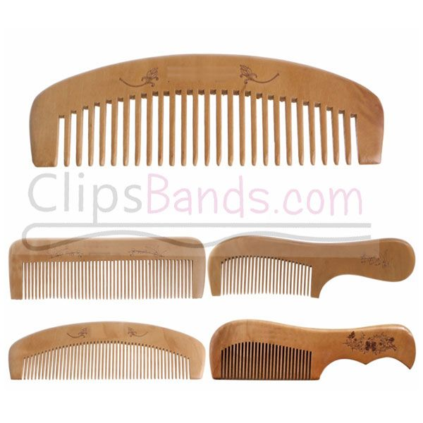 Best Wooden Hair Brush Anti Static Natural Peach Wood Comb