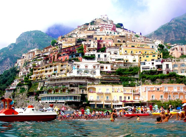 Positano, on Italy's Amalfi Coast, is the most vertical city in Europe. A week's stay in this city will strengthen your leg muscles because everywhere you go is either up or down stairs. Too cool!
