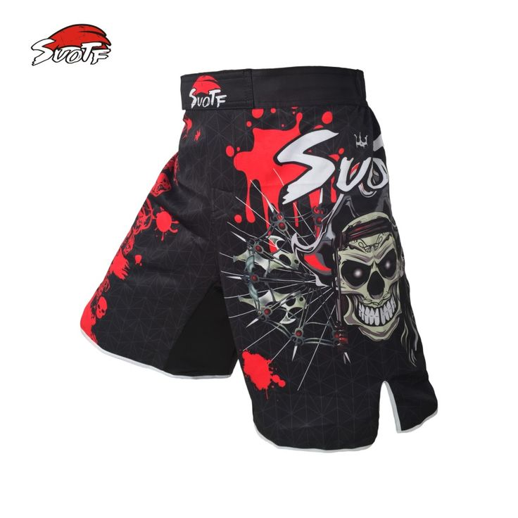 Red Skull Pirate fitness boxing workout MMA breathable pants Tiger Muay Thai boxing shorts kickboxing  MMA pants cheap boxeo #clothing,#shoes,#jewelry,#women,#men,#hats,#watches,#belts,#fashion,#style