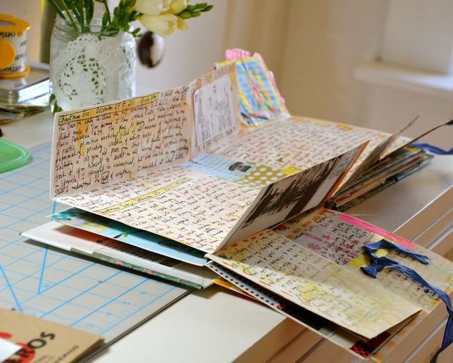 journal pages that unfold - mary ann moss