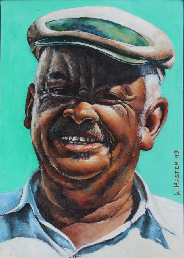 Willie Bester  Portrait Attie Jas