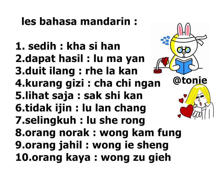 les bahasa mandarin :p