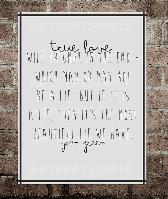 John green quotes about love