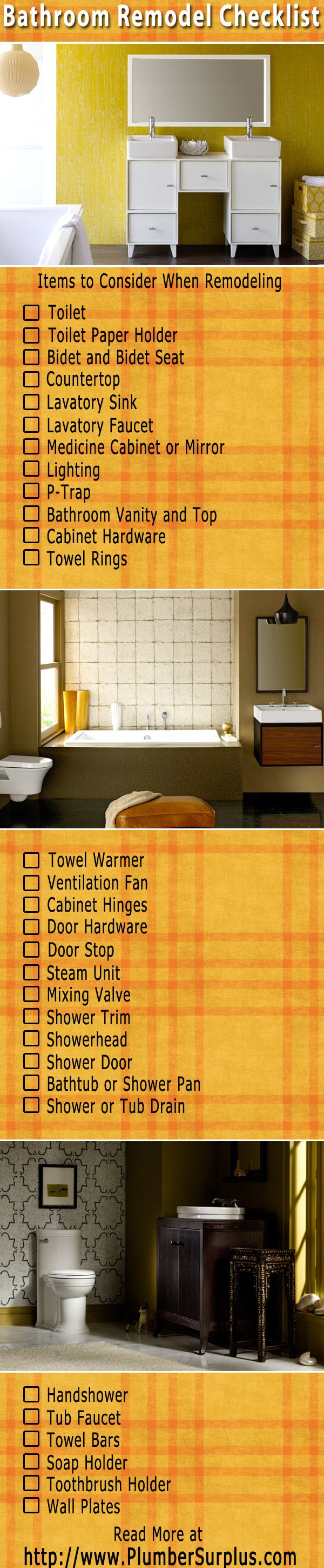 Starting a New Bathroom Remodel: A Bathroom Remodeling Checklist at PlumberSurplus.com