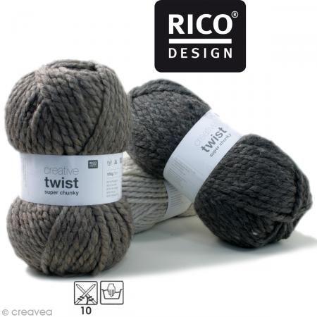 Laine Rico Design - Creative super twist chunky - 100 gr - 80% acrylique 20% alpaga - Photo n°1: