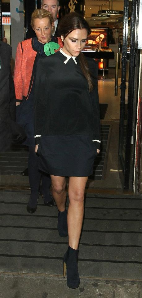 Victoria Beckham launches her fashion collection at Harvey Nichols in London- Feb 17