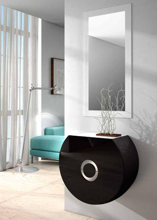 Recibidor moderno recibidor lacado negro recibidor xivalpa for Recibidor zapatero moderno