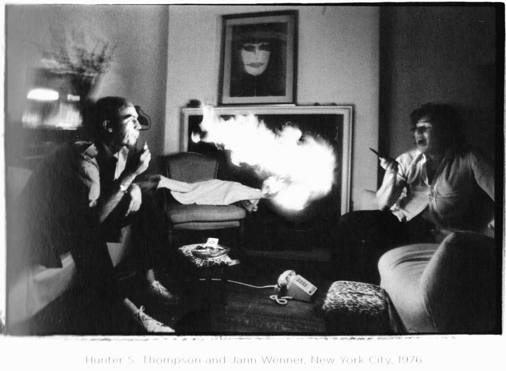 hunter s. thompson and jann wenner, new york city, 1976. by annie leibovitz