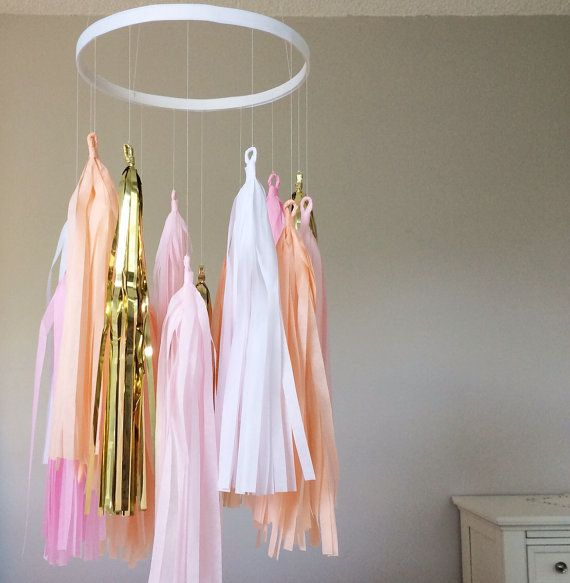 Hey, I found this really awesome Etsy listing at https://www.etsy.com/listing/188641542/pink-and-gold-tassel-mobile-tassel