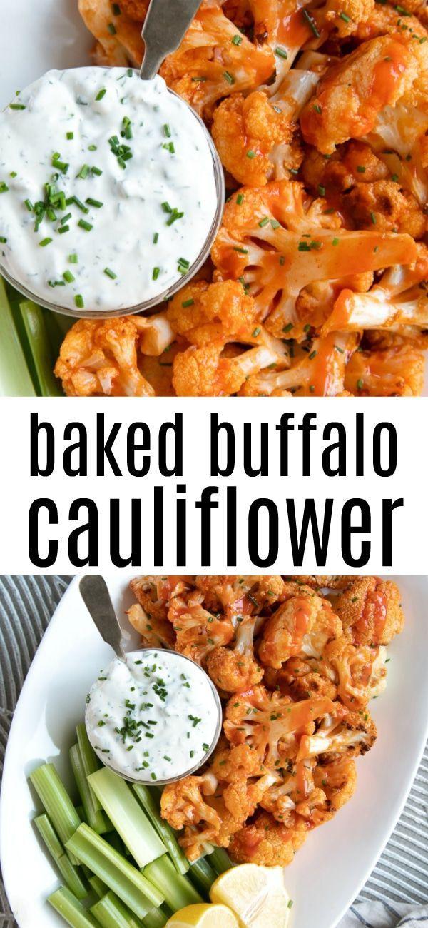 Baked Buffalo Cauliflower Bites #Veggierecipes #CleanCollector