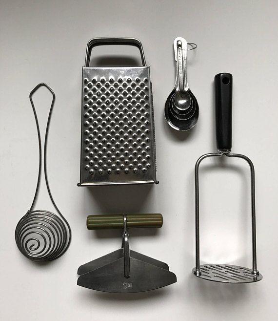Vintage Kitchen Utensils Retro Kitchen Cooking Tools Cheese
