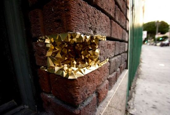 """Paige Smith's """"Urban Geode"""" Street Art Project"""
