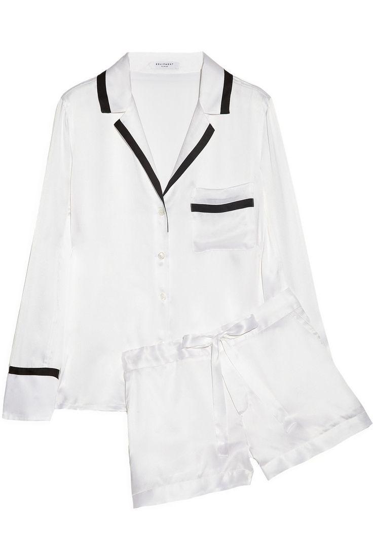 dreamy. Equipment|Jasper brushed-silk pajama set|NET-A-PORTER.COM