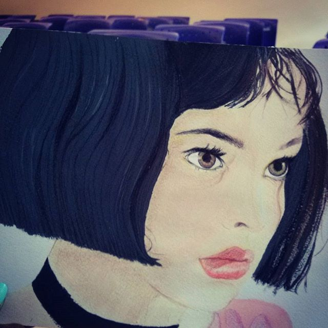 "Pelicula ""El profesional"" #theprofessional #nathalieportman #mathilda #temperas #drawing #lovedesign #loveart #draw #art"