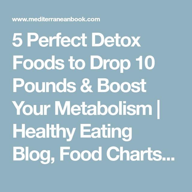 5 Perfect Detox Foods to Drop 10 Pounds & Boost Your Metabolism | Healthy Eating Blog, Food Charts, Diet Plan, Menu Tips and Recipes