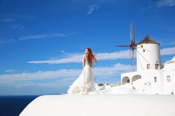 Exclusive Wedding dress by Noel Collection SS2017 Haute Couture designed and tailored in Greece  Santorini island photo-shooting